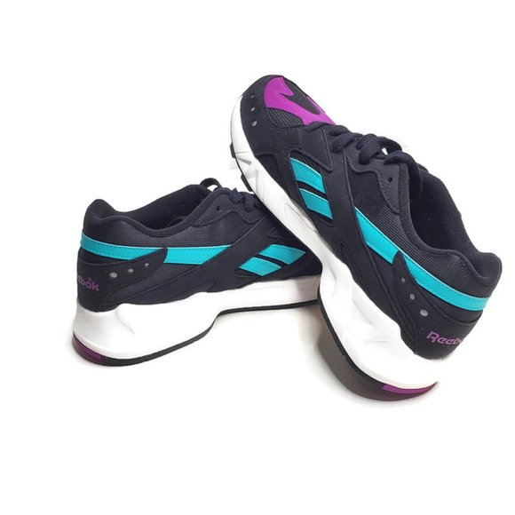 Gratificante Cordero ~ lado  Reebok Shoes | Reebok Aztrek Mens Sneakers Purple Teal Black Sz 7 | Poshmark